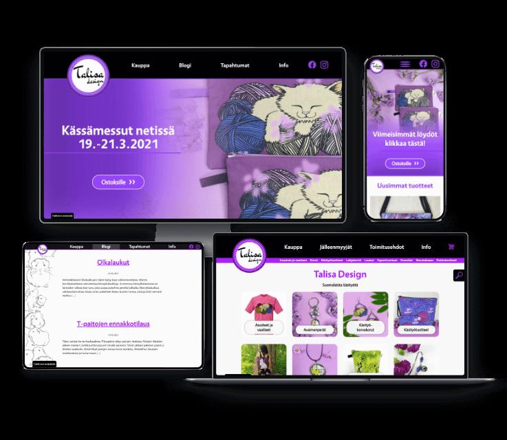 Talisa Design räätälöity WooCommerce-verkkokauppa