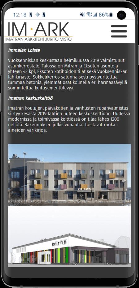 Imatran arkkitehtuuritoimiston kotisivut