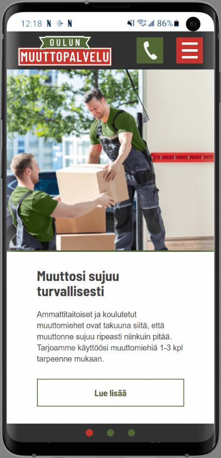 Oulun muuttopalvelun kotisivut