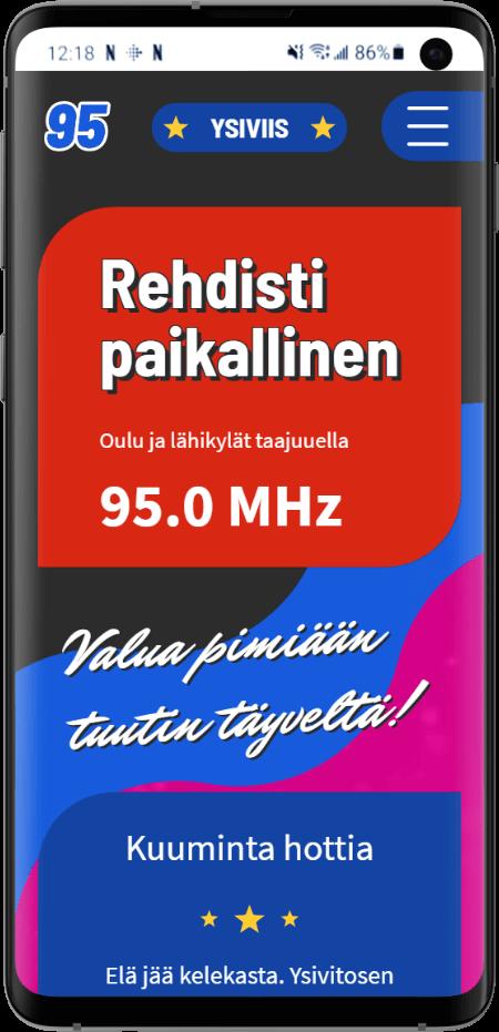 Radio 95:n kotisivut